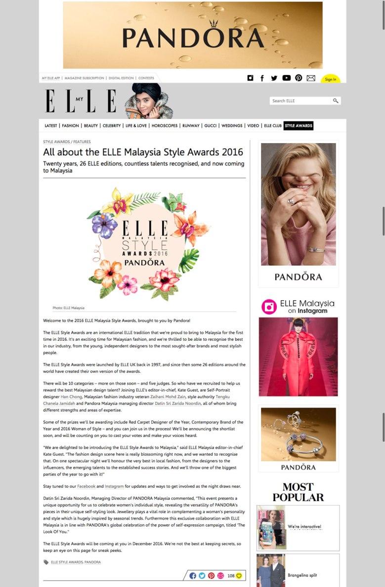 Elle Magazine Malaysia Style Awards 2016