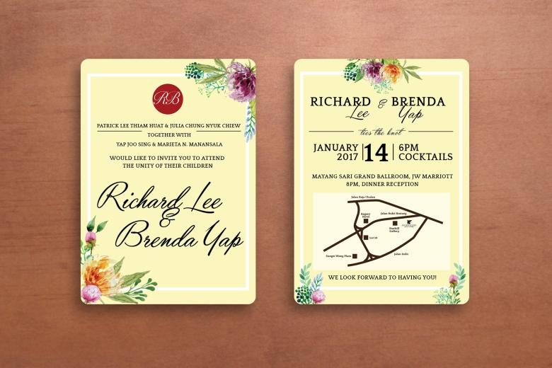 Richard and Brenda wedding design